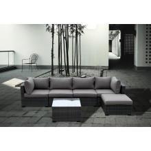 Sofá de mimbre moderna de diseño cómodo mobiliario exterior