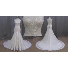 Свадебное Платье Кружева Покрыты Обратно