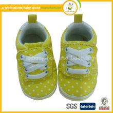 Производство 2015 Новый дизайн качества милый ребенок prewalker обувь ребенка холст обувь