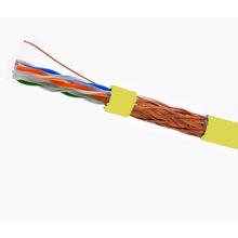 Cabo SFTP CAT6 LSZH Fluke testado Soild Bare Copper Yellow