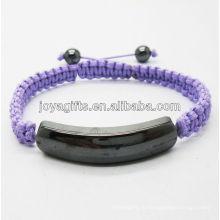 2013 Магнитный гематит фиолетовый тканый браслет