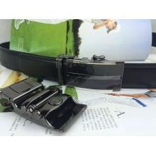 Cintos de couro preto para homens (HPX-160709)