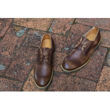 Brown Men Business Cowhide Shoes (NX 437)
