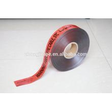 Fita de aviso de cabo de fibra óptica detectável subterrânea