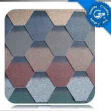 Telha autoadesiva do telhado do asfalto do mosaico / telha de telhado colorida da fibra de vidro / material telhadura do betume com ISO (12 cores)