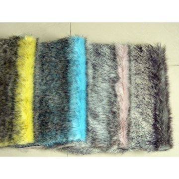 Tip-dyed Top Knitting Fabric Faux Fur