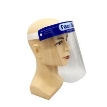 Bouclier facial protecteur transparent en plastique réutilisable