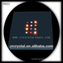 Base de luz LED de plástico para bloco de cristal