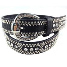 Cinturón de moda de estilo occidental estadounidense con piedra de vidrio