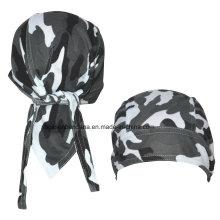 OEM Produce Customized Logo Printed Promotional Army Green Bandana Cap Headscarf