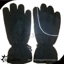 SRSAFETY black cotton wokring gloves water proof cloth safety glvoes motobike