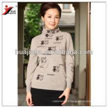 Cachemire élégant tricot pull femme formelle