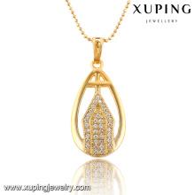 32553 xuping nuevo diseño señoras elegante joyería 18k bañado en oro colgante para las mujeres