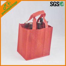 Bolsa de regalo de tela personalizada botella de vino