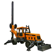 wheel Pile Rotary Drilling Rig   Small Pile Driving Machine geotechnical drilling machine