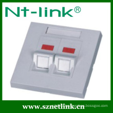 86 type 2 port network faceplate