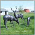 Brass Deer Family Sculpture For Sale