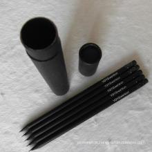 Atacado preto Hb madeira lápis com borracha (XL-02017)