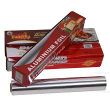 Papel de aluminio desechable para envasado de alimentos