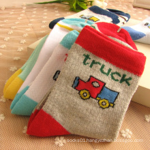 Very Cute Car Patter Baby Cotton Socks