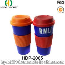 BPA portátil caneca plástica grátis café (HDP-2065)