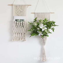 decoración de la pared de boho macrame