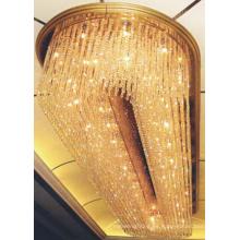 Luxury Crystal Hotel Lobby Lámpara de techo Araña de luces