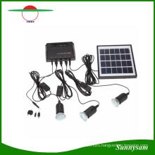 4W Solar Panel Lighting Home System Kit USB Charger with 3 PCS Light Bulb for Countryard Camping Fishing Emergency Security Lamp