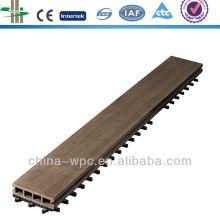 uso doméstico wpc telhas de revestimento de bloqueio