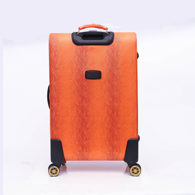 Expandable PU luggage