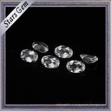 Синтетический овальный граненый камень CZ для ювелирных изделий