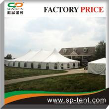 400 Sitzer Kirchenreihe sitzend Pole Style Zelt 40x80 mit einzelnen Gipfeln und Fensterseitenwänden