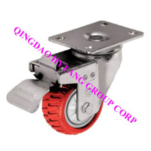 Swivel PU caster wheel with brake