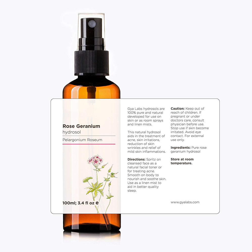 Rose geranium water