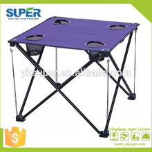 2015 fashionable outdoor foldable camp table with cup holder