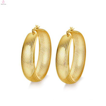 Gold big circle mesh earrings,big round gold mesh stud earrings