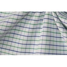 Vert/Navy contrôles minces fils teinté tissu pour chemises