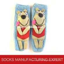 3D Floor Women′s Socks with Anti Slip Floor (UB-116)