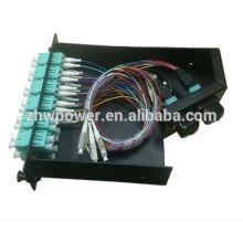 12 24 core distribution box,fiber optic terminal box,optical splicing box with mpo patch cord