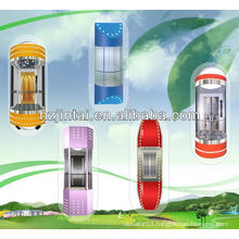 hIgh quality capsule type panoramic elevator lift for sightseeing
