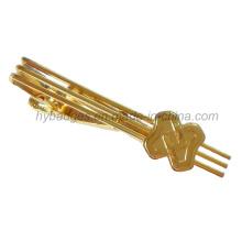 Gold Plated Alloy Tie Clip Brass Tie Clip (GZHY-LDJ-001)