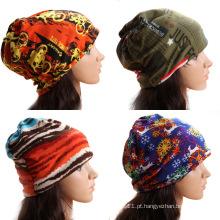 Lady Moda Impresso Algodão Malha Inverno Quente Chapéus de Esqui (YKY3138-1)