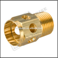 ISO / CE / ROHS Customized Precision CNC turning Machining copper Parts