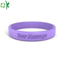 Hot Selling Debossed Logo Silicone Wristband for Sale