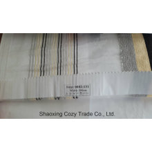 New Popular Project Stripe Organza Voile Sheer Curtain Fabric 0082131