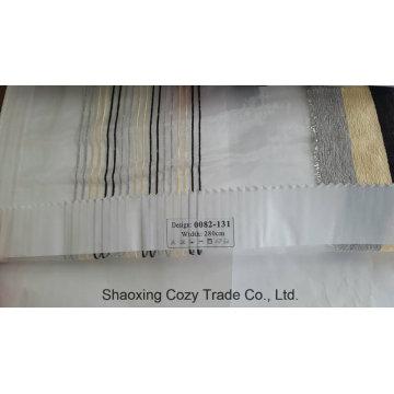 New Populäres Projekt Streifen Organza Voile Sheer Vorhang Stoff 0082131