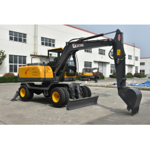 Multi-fungsi 0.3m3 bucket mini wheel excavator