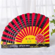 60 pedaços de cartão embalado shenghua black metal apertos de cabelo (je1043)