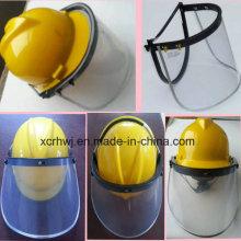 Gesichtsschutz mit Sicherheitshelm, PVC Gesichtsschutz Visier, PC Face Shield Visor, PC Green Faceshield Visor