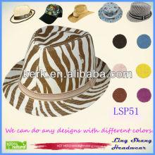 2013 Newest Style Zebra 100% Paper Straw Hat cap hat straw hat ,LSP51